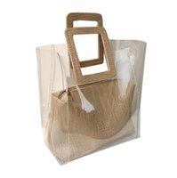 Farbkontrast Geldbörsen TOTE Luxus Designer Handtaschen Transparente Frauen Mode Jelly Paket mit 3 Volumen Designer-Luxus Große Handba RMMC
