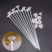 30 cm latex ballon stick witte ballonnen houder sticks met cup bruiloft verjaardagsfeestje opblaasbare ballen decoratie accessoires 7z