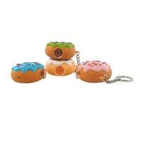 Cookie Style Handpfeife Silikon Löffel Ölbrenner Rohre Handcraft Bunte Pyrex Pfeifen mit Schlüsselanhänger und Glasschale Großhandel