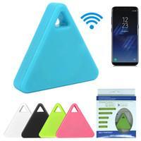 Moda Mini Triangle Smart Wireless Tag Bluetooth Anti perdeu o alarme Perseguidor 5 cores disponíveis localizador GPS Trackers