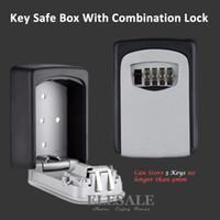 Cajas de organizador de almacenamiento de llaves montadas en pared con llaves de combinación de 4 dígitos llaves de repuesto cajas de organizador caja de metal secreto caja segura