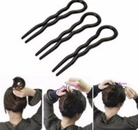 3 Pz / set Twist Styling Clip Stick Bun Maker Braid Strumento Accessori Hair Clip Pins Strumenti trucco professionale