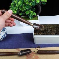 مقبض خشبي شاي معدن ملعقة مطبخ القهوة المجارف أدوات المائدة المنزلية