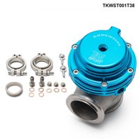 MV-S 38mm Universal Prestanda Externt Wastegate V-Band Flanged Turbo Avfall Gate för överladdning Turbo Manifold TKWST001T38