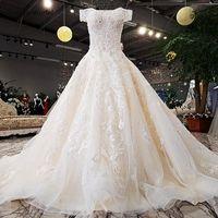 2020 мода современные свадебные платья возлюбленные с плеча бисером A-Line принцесса принцесса свадебные платья фабрика фабрики