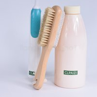 2 in 1 spazzole per la pulizia del corpo naturale o Piedi esfoliante SPA Spazzola doppia lato con la Natura pietra pomice spazzola a setole morbide FFA3099
