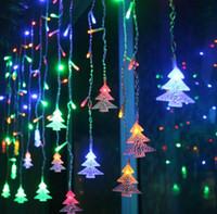 Tenda di albero di Natale Ghiacciolo String Fata Luce Giardino di nozze Casa Camera da letto Festival Holiday Decor LLFA
