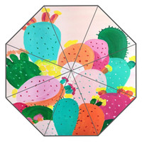 Nice Cartoon cactus Custom Sunny and Rainy Umbrella Design P...