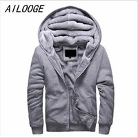 AILOOGE 2017 New Bomber Jacket Men Thick Outwear Overcoat Winter warme Herren Jacken und Mäntel beiläufige Hoodies Mann-Marken-Kleidung