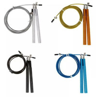 Металлические ручки скорость пропускания пропустить веревки на открытом воздухе Фитнес тренажерный зал Упражнения подшипника спортивные скакалки оптом CrossFit кабельный провод скачка