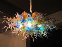 Lampen Elegante bunte LED Bubble Kronleuchter Energieeinsparung Lichtquelle Moderne Kunst Dekor Handgemachte geblasene Glas Hängende Kette Kronleuchter
