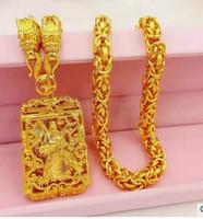 moda ouro amarelo colar cheio de pingente cadeia frete grátis acima do mercado
