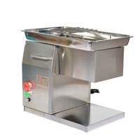 Lebensmittelverarbeitung 220V 50Hz qh Tischplatte Metzgerei elektrisch Kleine frische Fleischstreifenschneidermaschine 550W 500kg / h für Küchenrestaurant Supermarktmarkt