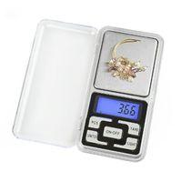 Nouvelle arrivée 500g / 0.1g Mini électronique numérique de poche Balance de pesée Balance des bijoux Fonction de comptage bleu LCD g / tl / oz / ct
