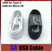 ++ 품질 1m 3 피트 충전 충전기 동기화 데이터 USB 케이블 코드 타입 C 마이크로 V8 타입 C를 들어 갤럭시 S8 S9 S9 + 플러스 S10 참고 8 9 Adnrod 전화
