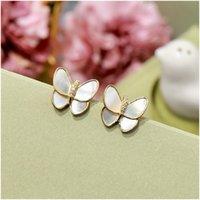 Voller Diamant-Ohrringe Schmetterling Ohrringe Elf-Ohr-Manschette Nein durchbohrtes Ohr-Clip-Ohr hängende Ohrstecker Modeschmuck für Frauen mit Kasten
