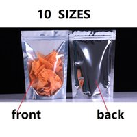 10 Sizes Auminum foil Clear Silver Ziplock Stand up Pouch ba...
