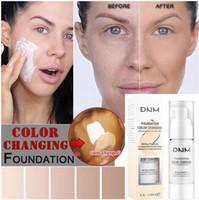 30ML الاحترار الأساس السائل المحمولة اللون الطبيعي العاج الأبيض اشراق تمييز ماكياج الوجه المخفي 2 الألوان
