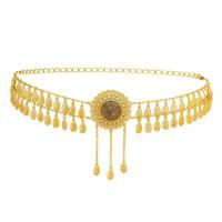 الولايات المتحدة مستودعات خمر الذهب المعادن المرأة الجوف عباد الشمس شكل الخصر سلسلة حزام الإناث مشرق كريستال الخصر سلسلة حزام البطن سلسلة مجوهرات