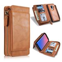 아이폰 XS 최대 XR X 8 플러스 삼성 S8 S9 플러스 주 (9) 카드 포켓 가죽 지갑 케이스 커버 보호 케이스 플립