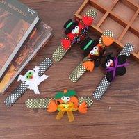 Halloween presente Brilho Tapa Bracelet Pulseira Crianças Pumpkin Bat Fantasma Tapa Pat Círculo Pulseiras Dia das Bruxas caçoa Decoração Círculo DBC VT0769