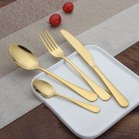 Новые из нержавеющей стали Золотые столовые наборы наборы ложки вилка нож чайной ложки ужин набор кухонный бар Утварь 4 стиль наборов WX9-377