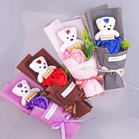 Gift Bag Gift Bag Grande portatile Sapone Fiore Orso Rosa Regalo Rose per famiglie con un solo persona Lover