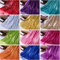 Ткань 130см * 50см красочные блестящие блестки дизайнер флуоресцентные ткани сцены свадебный декор Voile прозрачный голографический
