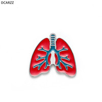 Enamel Lungs Pin Anatomy Lapel Women Gift Cartoon Cute Brooc...