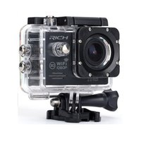 Freeshipping عمل كاميرا كاملة hd 1080 وعاء wifi 170 درجة عدسة الذهاب الموالية نمط للماء 30 متر الرياضة كاميرا + الألومنيوم قابل للتمديد القطب عصا + حقيبة