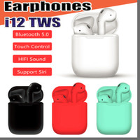 i12 TWS Touch Wireless Earbuds Double V5.0 Bluetooth Cuffie auricolari stereo auricolari wireless auricolari con controllo touch