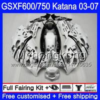 GSX600F för Suzuki GSXF 600 750 GSXF600 2003 2004 2005 2006 2007 293HM.5 GSXF-750 Katana GSXF750 Scorpion Vit 03 04 05 06 07 Fairings