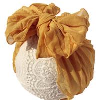 Große Bögen Baby Stirnbänder Spitze Mädchen Süße Mädchen Haarschmuck Kopfbänder A10369