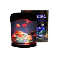 Denizanası tankı akvaryum ışıkları tarzı ledler lamba duyu otizm lav lampr led masa lampy dropshiping jellyfishs kurşun lambalar crestech168