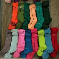 Женщины Девушки Чулки Высокие Носки Мода Носки Спортивные Футбольные Чирлидеры Длинные Носки Хлопковая Нога Утепливает Multicolor Fast Доставка