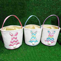 Easter DIY Barrels Baskets Rabbit Pattern Large Storage Bags...