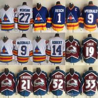Men Colorado Avalanche 19 Joe Sakic 21 Peter Forsberg 33 Patrick Roy 52 Adam Foote 27 John Wensink 9 Lanny McDonald Hockey Jerseys