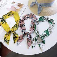 Fashion Girls шифоновая лента scrunchie волосы шарф женские повязки Многоцелевые цветочные горошек с принтом Луки принцесса держатель хвост