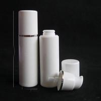 15ML 30ML 50ML زجاجة مضخة الرش الأبيض -السفر إعادة الملء كريم التجميل العناية بالبشرة موزع ، PP لوسيون التعبئة الحاويات