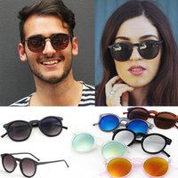Vintage Round Sunglasses Lightweight Colorful Frame Sun Glas...