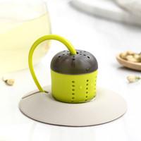 Nouveau thé Boîte à thé infuseur café filtre déhoussable feuille à base de plantes Spice Porte Passoire à thé avec Cup Accessoires Drinkware