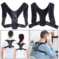 Lage-Korrektor-Lage-Korrektor Verstellbare Rücken Schulter Korrektur Brace Gürtel Clavicleweinlesehalskette atmungsaktive Material Buckel Zurück