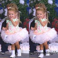 2020 Baby Miss America Girl's Pageant Kleider Custom Made Organza Party Cupcake Blumenmädchen Hübsches Kleid für Kleinkind