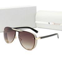 جديد يمتيد الطبعة الأزياء النظارات الشمسية الرجال النساء المعادن خمر النظارات الشمسية موضة ساحة ستايل بدون إطار الأشعة فوق البنفسجية 400 عدسة الاطار الأصلي وحالة