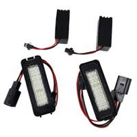 2X 18 LED Error Free رقم لوحة ترخيص ضوء لمبات السيارات الذيل ضوء يصلح لشركة فولكس فاجن GTI جولف 4/5/6 باسات شيروكو MK4 / 5/6 1998-2002