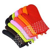 قفازات فرن قفاز العزل سيليكون فرن خبز مطبخ طبخ الخبز أدوات غسل قفازات GGA3409 مقاومة للإنزلاق