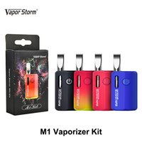 Auténtico Vapor Storm M1 Vaporizador Kit 800mAh Voltaje ajustable Batería Vape Box Mod Con 0.5ml 510 Thread Thick Oil Cartridge Vape tanque