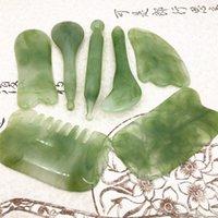 7 pçs / set Gua Sha Massagem Resina Material Raspagem Ferramenta Spa Salon Fornecedor Facial Cuidado Cuidado Tratamento Beleza Ferramentas de Saúde