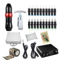 Fontes Professional Rotary Pen Kit tatuagem com tatuagem Cartucho Needle LCD Mini Power Equipment