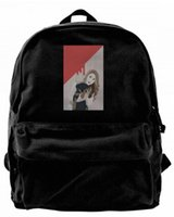 The single girl' s dog mom Canvas Shoulder Backpack Cute...